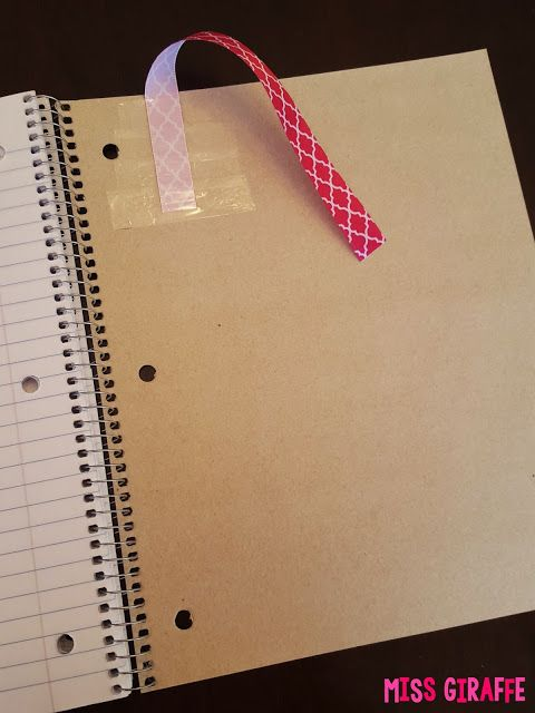 Awesome interactive notebook tips! Tape a ribbon to the back cover so kids have a bookmark so they can easily find their place