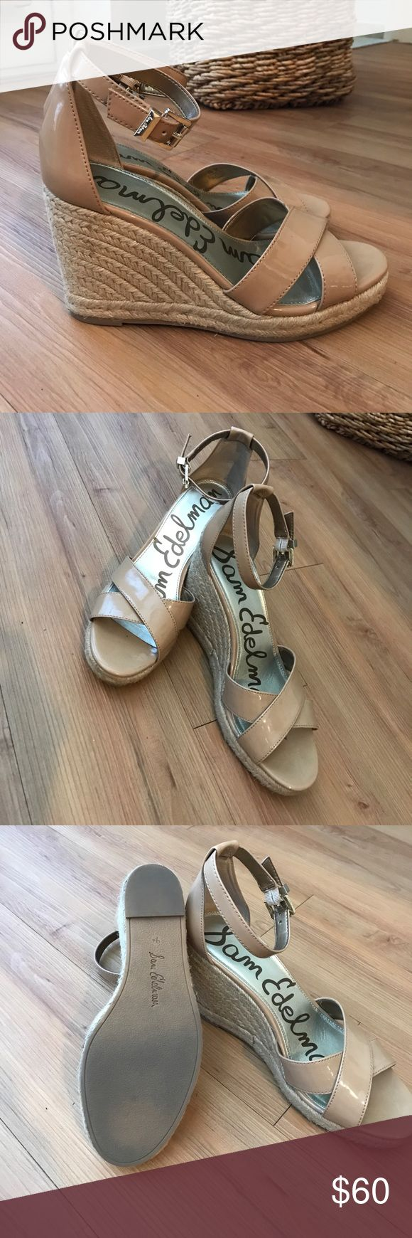 "Sam Edelman Espadrille Wedges Sam Edelman Nude Espadrille Wedges, super comfortable, 4"" Heel - worn only twice. Sam Edelman Shoes Espadrilles"