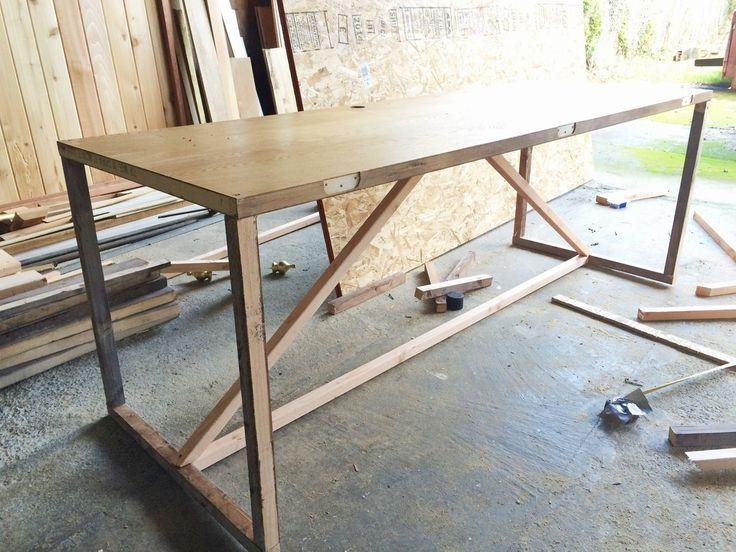 Diy desk from hallow door                                                                                                                                                                                 More