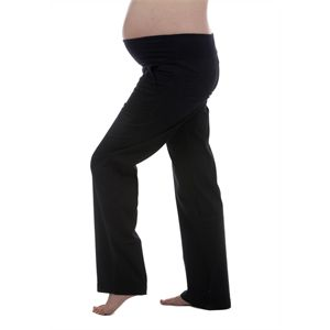 Don't want jeans? These fabulous twill pants are the perfect black casual pant - we even have customers buying them for work, pregnant or not! Lovely soft waist band, a little spandex for a great fit, really flattering through the bottom. Based on Ninth Moon's super popular cargo pant style, these have all the comfort and fit, without the extra bulk of the pockets, making them a little more versatile.