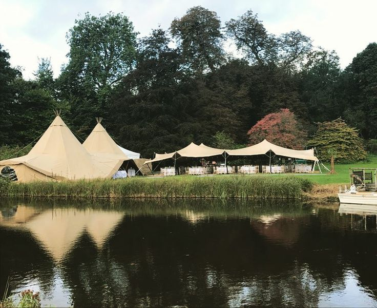 Yesterday we hosted one I'd be biggest weddings we've had to date. Liz & Rob had a beautiful tipi style marquee for their #weddingreception by @whitebisontipi ..... #houghtonlodgeweddings #weddings #weddingvenue #tipi #tipiwedding #wedding