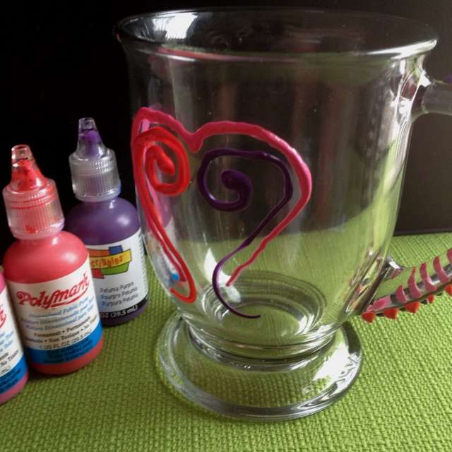 How To Decorate A Coffee Mug With Paint