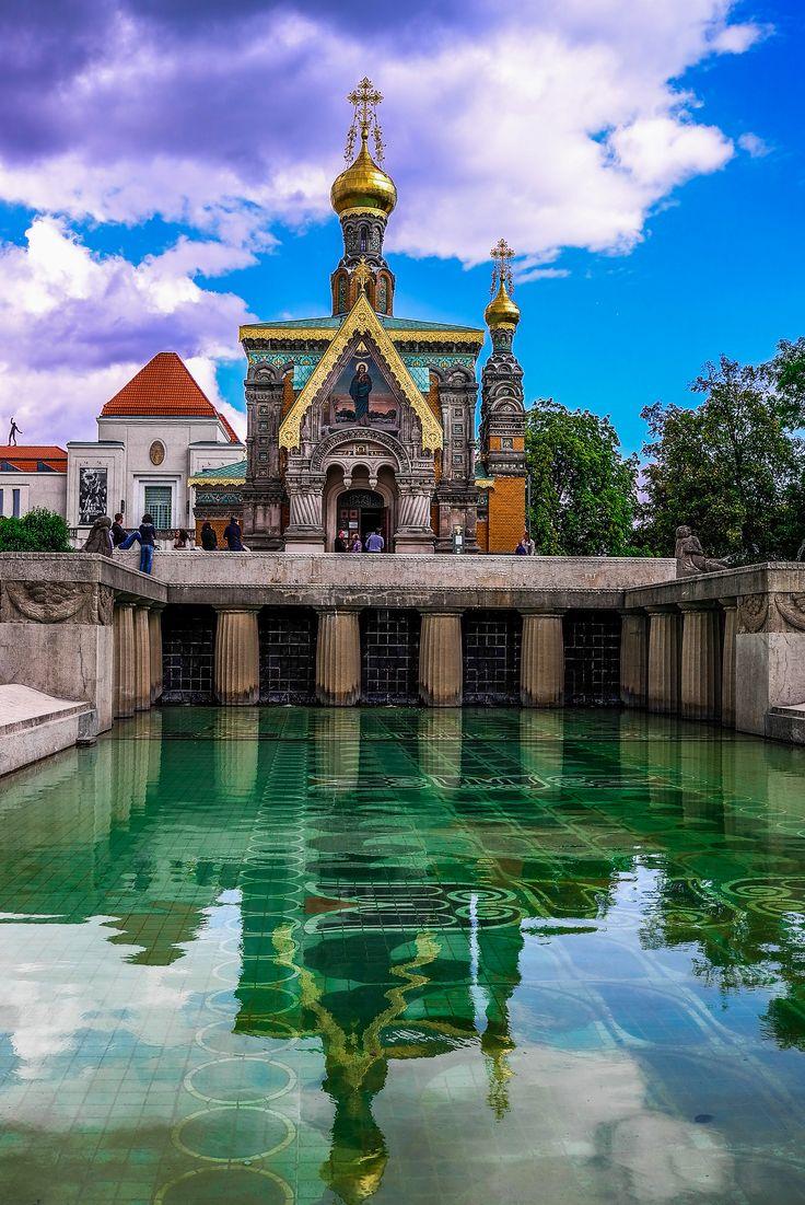 Russische Orthodoxe Kirche der hl. Maria Magdalena, Darmstadt, Hessen_ Germany