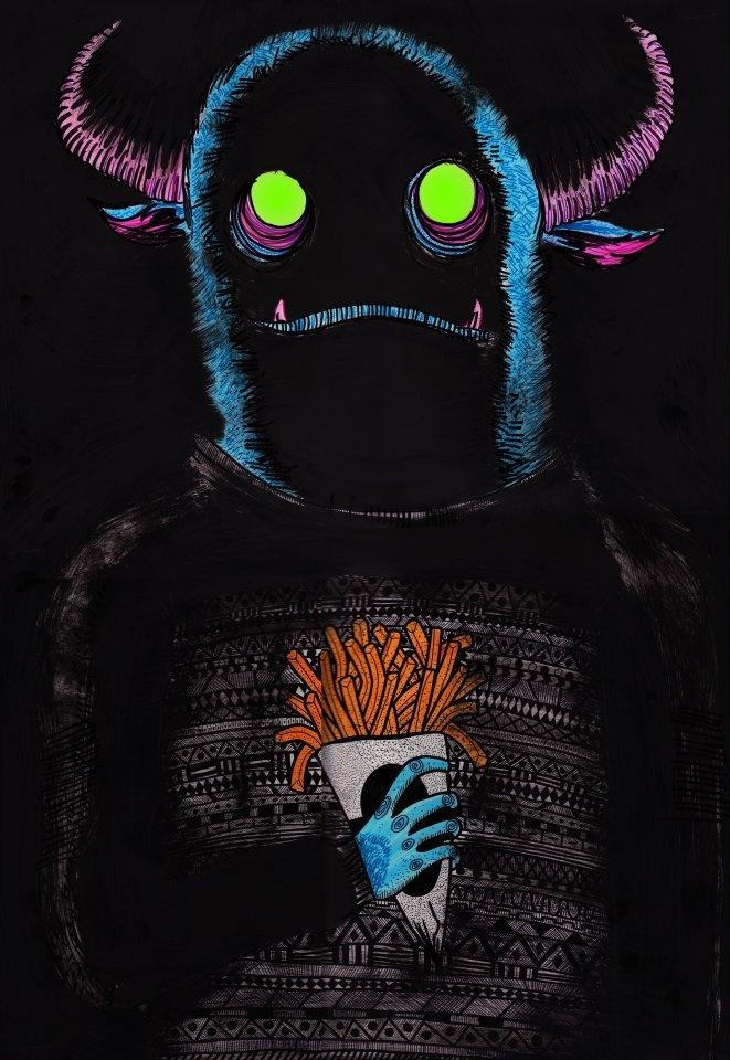 Monstruo come papas fritas