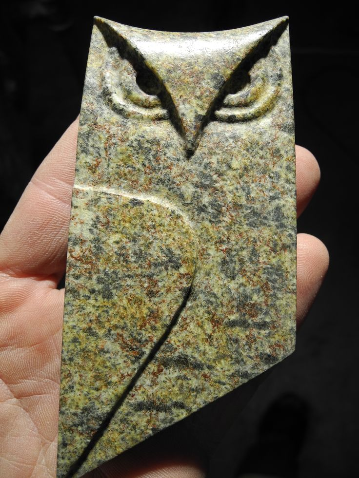 Owl sculpture carved out of Brazilian soapstone by TJ McDermott  www.tjmcdermott.com