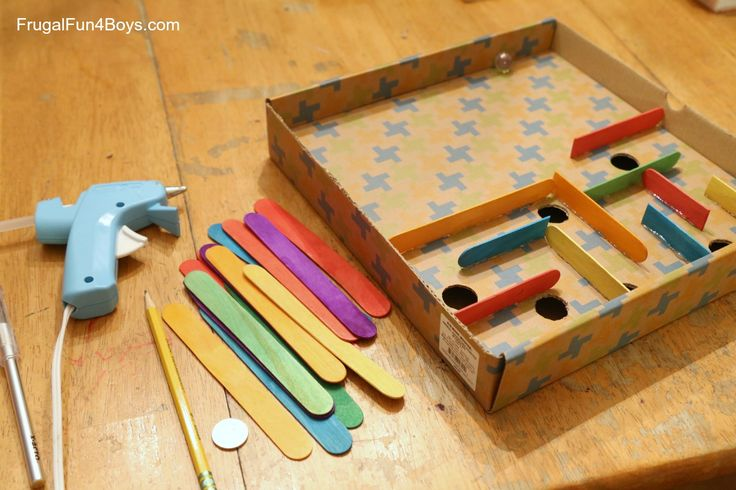 How to Make a Cardboard Box Marble Labyrinth Game - Frugal Fun For ...