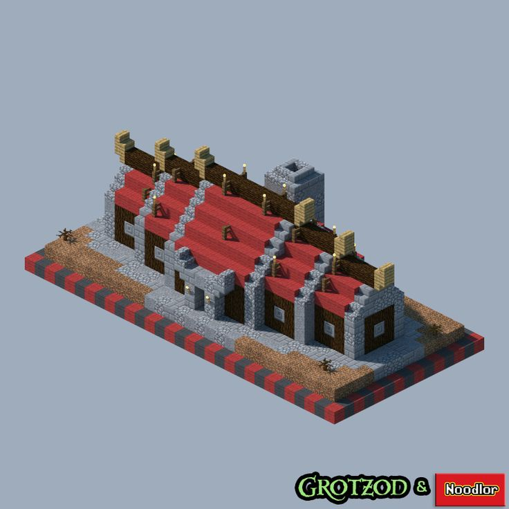 Orc Buildings by MCNoodlor and Grotzod via /r/Minecraft