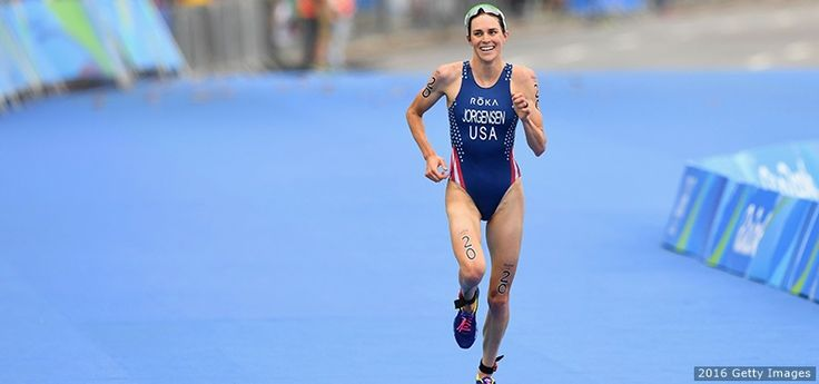 In her sixth year of competing in triathlon, gave the U.S. its first gold medal since the sport's Olympic debut in 2000.
