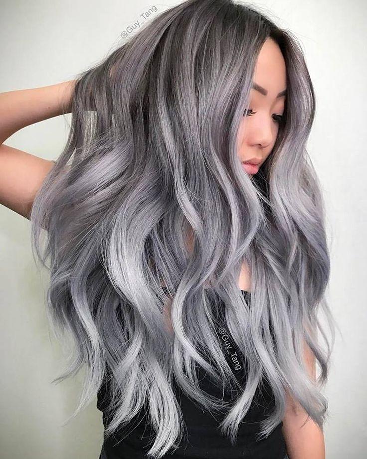 Popular Wig Pink Highlights Aliexpress Of Smoke Gray Hair