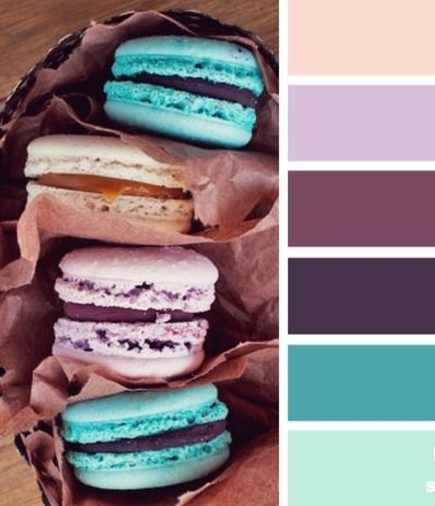 Color Palettes - love the eggplant and blues!