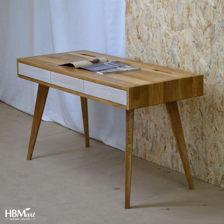 Рабочий стол LUX CABRIO от HBMart - массив дуба с покрытием из льняного масла и пчелиного воска