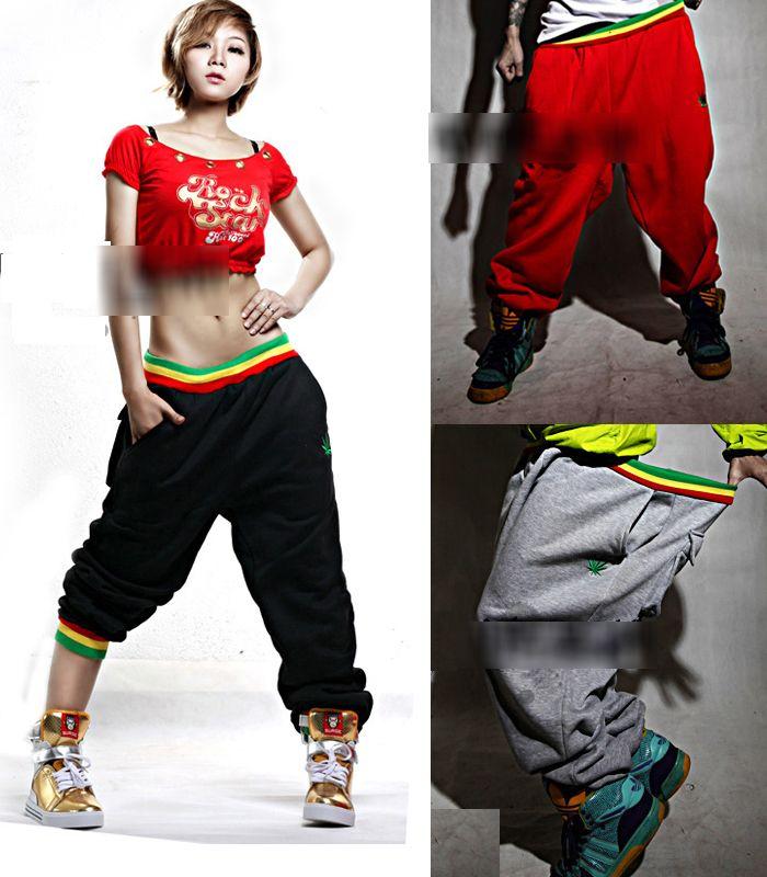 2014 Sport femmes / homme sarouel / Casual Sport Hip Hop pantalons / marque Baggy danse pantalons / pantalon pour fille et garçon m - xxl SJY125(China (Mainland))