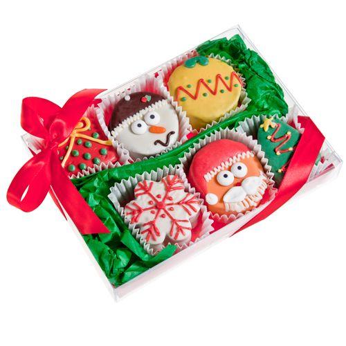 USA Cookies - Christmas Brownie Gift Box of 6