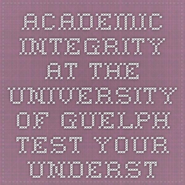 academic integrity research paper Academic integrity is the central principle on which the academic community  depends  examine scholarly books and journal articles in your field of  research.