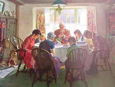 """ The Family at Prayer"" by Haddon Sundblom: Thanksgiving Fal, Mom Photos, Amenities, Art Study, Fine Art, My Friends, Families, Artworks Illustrations, Prayer 8221"