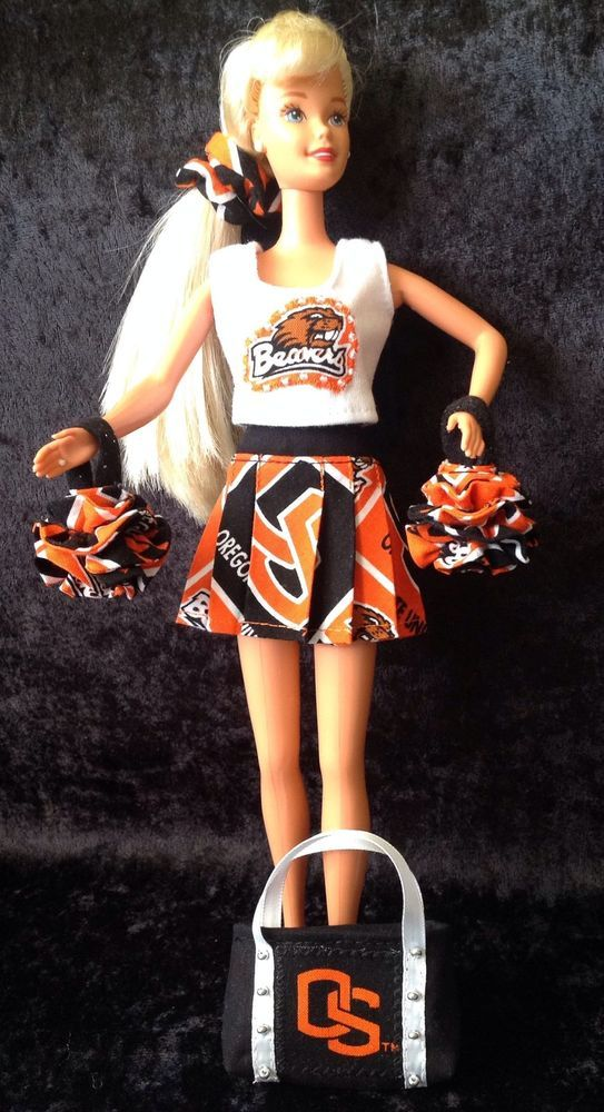 BARBIE OSU CHEERLEADER OUTFIT Oregon State University Beavers US MADE Basketball