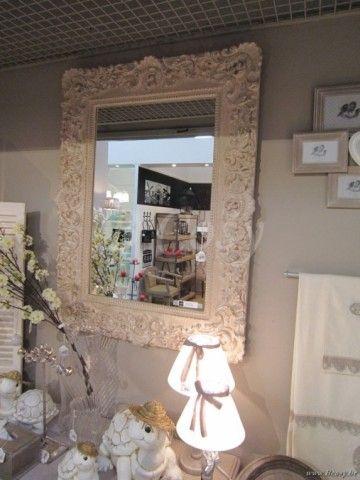 """J-Line Antieke barokke spiegel antiek barok beige 95x125 <span style=""""font-size: 0.01pt;"""">Jline-by-Jolipa-62742</span>"""