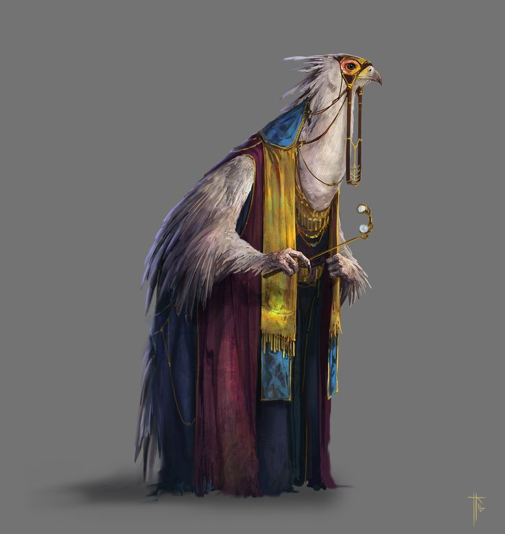 Like the execution of this bird person #conceptart @ ArtStation #illustration #characterart