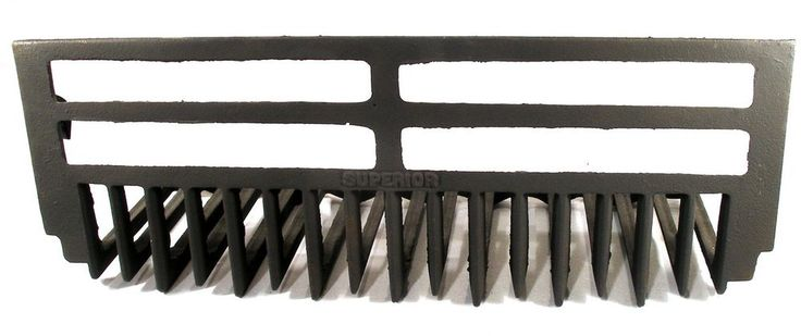 ANTIQUE ART DECO CAST IRON SUPERIOR WHALE BONE FIRE PLACE GRATE FOR SURROUND #SUPERIOR 7375