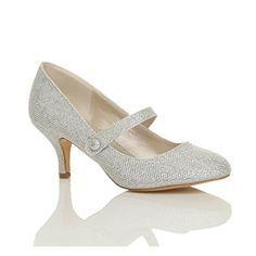 Damen Hoher Absatz Mary Jane Formal Abend Party Ball Pumps Schuhe Größe 7 40 - http://on-line-kaufen.de/ajvani/40-eu-7-uk-damen-hoher-absatz-mary-jane-formal-abend-9