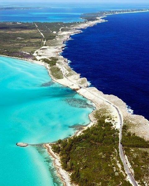 Eleuthera a Bahamian Island where dark atlantic ocean waters meet aqua caribbean ovean water  Email classyvacations@yahoo.com  Call/text 323.998.8908 to book your exquisite island vacation  #classyvacations #travel #vacations #island #summer #summerdeals #atlantic #caribbean #bahamas #family
