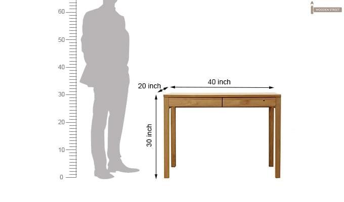Frodo Study Table Cum Shelf (Natural Finish)-11