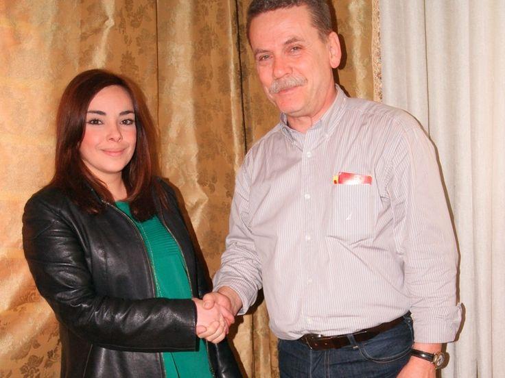Συνάντηση της Αθανασίας Μήχου (υποψήφιας) με τον επικεφαλής του συνδυασμού, Λάζαρο Μαλούτα  #ekloges2014, # kozani, #enothta, #maloutas, #enotita