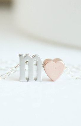 Silver Letter Necklace Lower Case