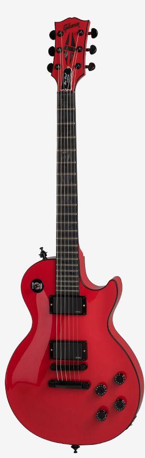 Stallion Red Gibson Les Paul Custom Chambered Blackout model