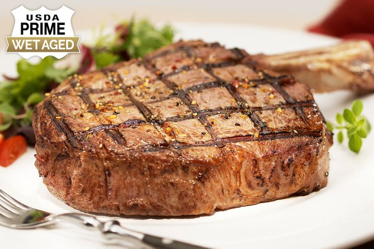 "USDA Prime Wet Aged Bone-In Ribeye: ""Our Cowboy Cut, or Chicago Style Steak, is a USDA Prime Bone-In Ribeye… #Beef #Steaks #Wagyu"