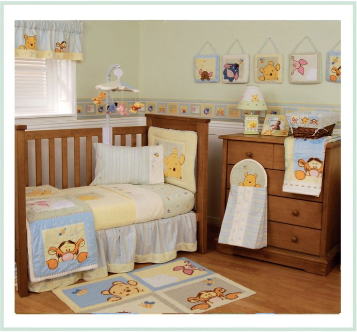 Winnie The Pooh Crib And Changing Table Baby Crib Design Inspiration - Baby winnie the pooh nursery decor