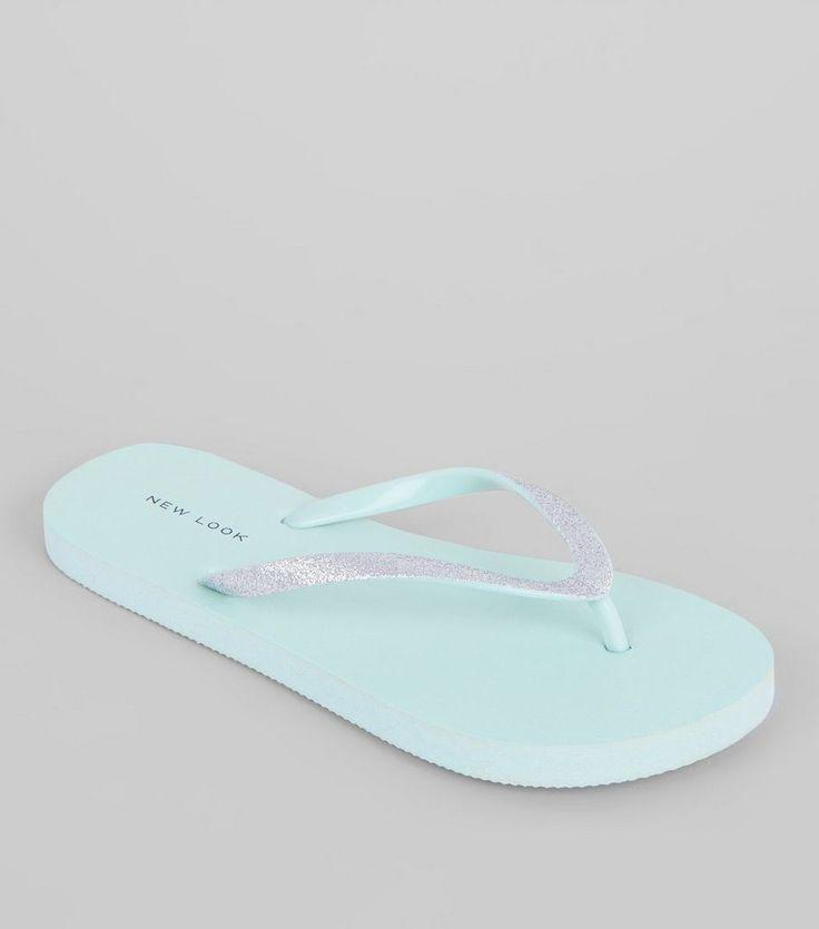 New Look(ニュールック)   New Look Mint Green Gitter Flip Flops - MILANDA(ミランダ)通販