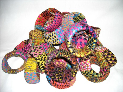 Bracelets from recovered threads