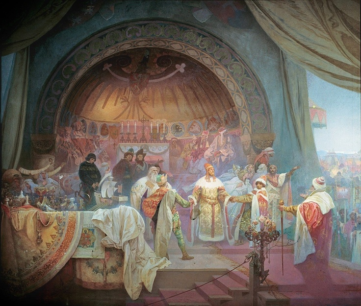 Alphonse Mucha | 'The Slav Epic' cycle No.5: King Přemysl Otakar II of Bohemia, Alphonse Mucha, 1924.