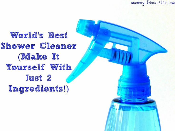 This is really the world's best shower cleaner. It removes tough soap scum with almost no work on your part. You make it yourself with just 2 ingredients!