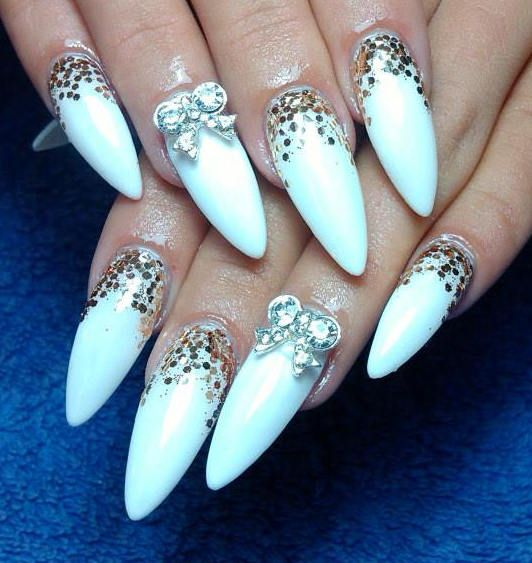 1000 ideas about white glitter nails on pinterest