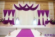 Free Shipping ! Deluxe Backdrop + Deluxe Purple Swag Pipe and Drape For Wedding, Wedding Backdrop ,Wedding Decor,Stage Backdrop