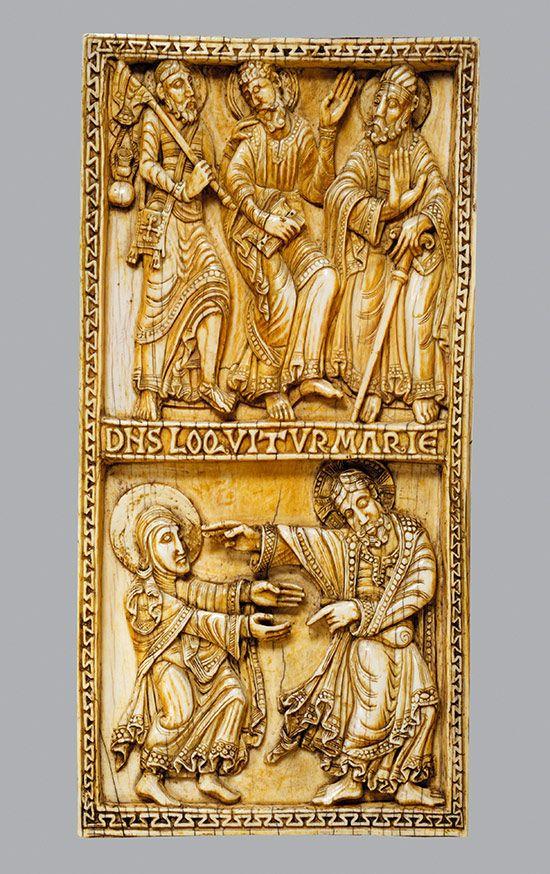 Placa con el Viaje al Emaús y el Noli