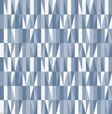 Scandinavian Designers (2761) - Boråstapeter Wallpapers - Symmetrical triangular and rectangle shapes. Shown here in shades of blue and white - more colours are available please ask for details. Please request a sample for true colour match. Paste-the-wall product.
