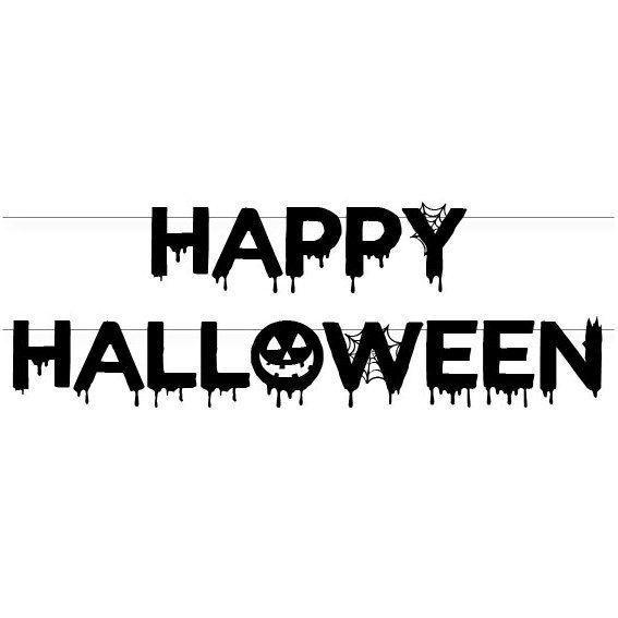 décoration de fête d'Halloween, fête d'halloween, nid d'ange halloween, décorations d'halloween, bannière halloween, guirlande halloween