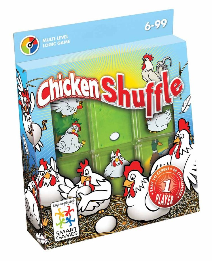 Smart Games - Chicken Shuffle Single Player Multi Level Logic Puzzle Challenge This game looks like it would be challenging but fun.  #entropywishlist #pintowin