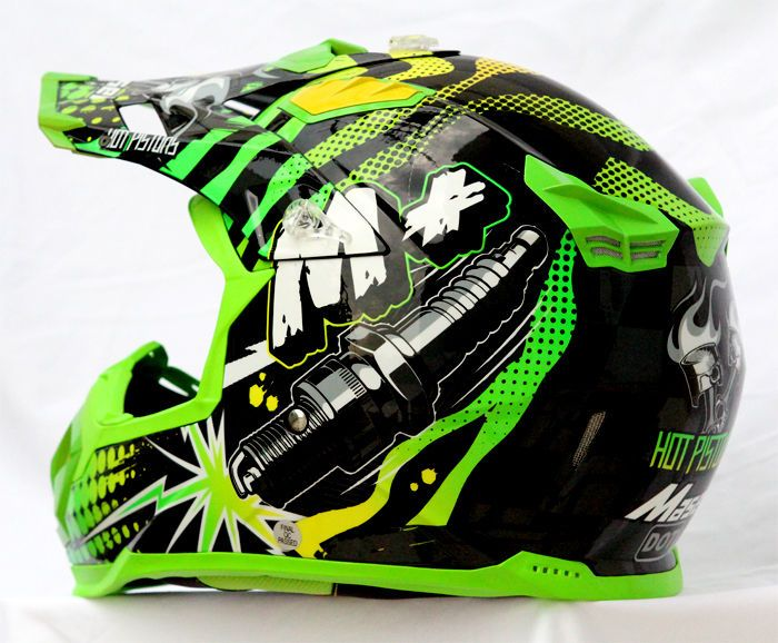 Masei 315 M Plus Motocross ATV DOT Dirtbike Helmet GREEN L XL XXL