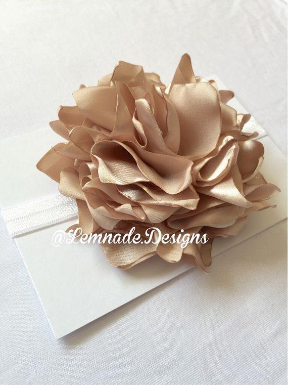Silk flower headband by LemnadeDesigns on Etsy