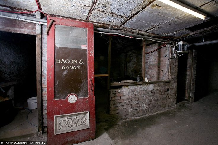 Times gone by: Old shops and stables were uncovered under the Royal Arcade - a two-storey complex of stores and flats in Keighley, West Yorkshire