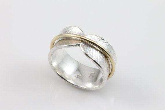 Bodhi Leaf Spinner Ring, meditation ring, fidget ring, worry ring, spinning…