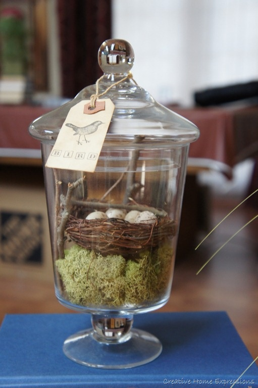 Apothecary Jars and Birds Nests - two things I love