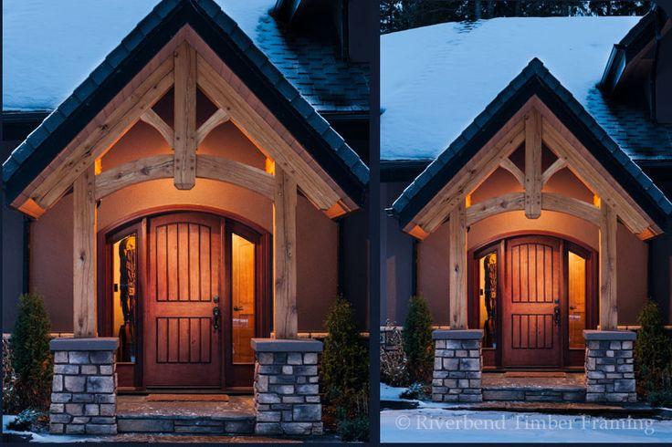 ENTRY WAYS OF TIMBER FRAME HOMES   Timber Frame Entrance