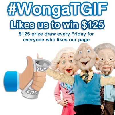 #WongaTGIF - Enter every Friday on Facebook: https://www.facebook.com/wongacanada