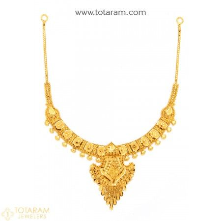 22K Gold Necklace for Women - 235-GN1887 - Buy this Latest Indian Gold Jewelry Design in 18.600 Grams for a low price of  $1,025.19