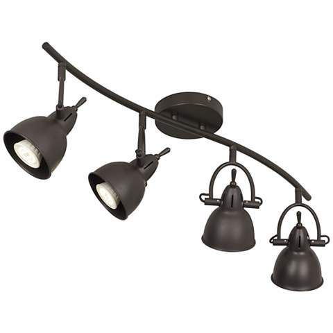 black track lighting fixtures. Pro Track Thorndale Bronze Adjustable LED Fixture - #2P032 | Http:// Black Lighting Fixtures
